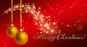 Christmas, Star, Gold, Red, Lights Stock Images
