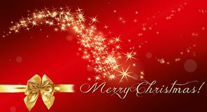 Christmas, Star, Gold, Red, Lights Royalty Free Stock Photos