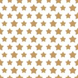Christmas star gold style seamless pattern on white background. Christmas decoration element. Vector Illustration Royalty Free Stock Photos