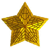Christmas Star golden 3d isolated Stock Image