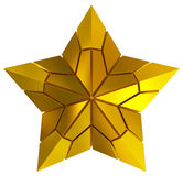 Christmas Star golden 3d isolated Stock Photography