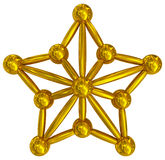Christmas Star golden 3d isolated Royalty Free Stock Photo