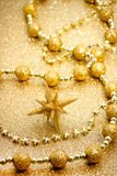 Christmas star with golden ornament Royalty Free Stock Photography