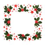 Christmas Star & Holly Red Berry Wreath
