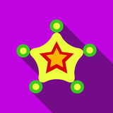Christmas star icon, flat style Stock Images