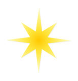 Christmas star icon Stock Photography