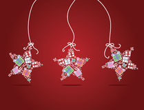 Christmas star illustration Royalty Free Stock Photography