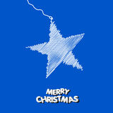 Christmas star illustration. Christmas star blue art illustration Royalty Free Stock Images