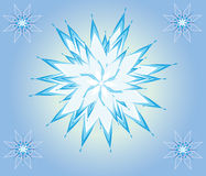 Christmas star. Illustration with a beautiful christmas star on blue background Royalty Free Stock Photo
