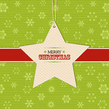 Christmas star  label background Royalty Free Stock Photos