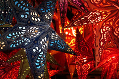 Christmas star lantern Stock Image