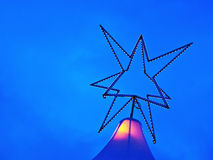 Christmas Star - Light Game Stock Photography
