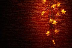 Christmas star lights Royalty Free Stock Photography