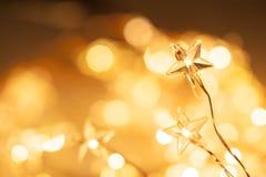 Christmas star lights stock photos