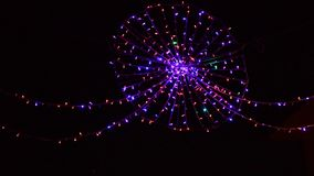 Christmas star lights in the streets. Video Stock Photos