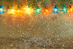 Christmas star lights stock photography