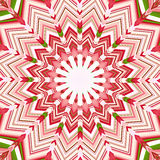 Christmas star mandala. Colorful biright christmas star mandala background Stock Photo