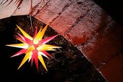Christmas star at night Stock Photography