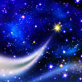 Christmas star in the night sky. Royalty Free Stock Photos