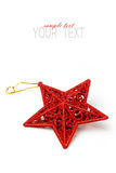 Christmas star ornament. On white background royalty free stock image
