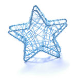 Christmas Star Ornament. Blue Christmas tree ornament isolated on a white background Royalty Free Stock Photography