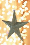 Christmas star ornament close-up Stock Images