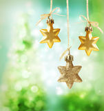 Christmas star ornaments Stock Photos