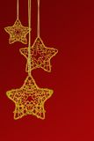 Christmas star ornaments Royalty Free Stock Photos