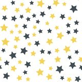 Star seamless background. Christmas star pattern seamless background. Stars sky Royalty Free Stock Images