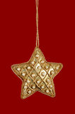 Christmas Star With Pearls and Gold Royalty Free Stock Photos