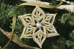 Christmas Star and Pine II. Christmas Star and Pine Decoration for Wallpaper or Background stock photo