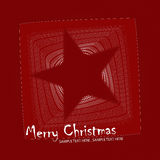 Christmas star postcard illustration Stock Images