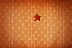 Christmas star in red christmas wallpaper background Royalty Free Stock Photography