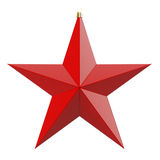 Christmas star. Red Christmas star. 3d render with HDR Royalty Free Stock Images