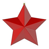 Christmas star. Red Christmas star. 3d render with HDR Royalty Free Stock Photos