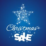 Christmas Star Sale discount blue background. Stardust vector Royalty Free Stock Photo
