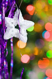 Christmas star shape on the shine background Stock Image
