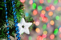 Christmas star shape on the shine background Royalty Free Stock Image