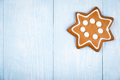 Christmas star-shaped cookie gingerbread Stock Photo