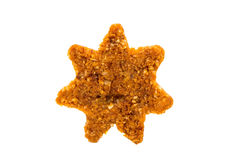 Christmas star shaped cookie with white icing Stock Photos