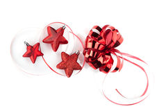 Christmas star shaped decoration Stock Photo