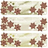 Christmas star shaped gingerbread banner Stock Photos