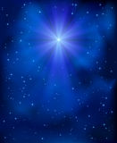 Christmas star in the sky Royalty Free Stock Images