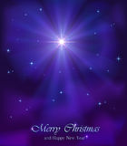 Christmas star in the sky Royalty Free Stock Photo