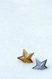 Christmas star in snow Stock Image