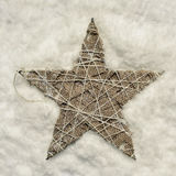 Christmas star on the snow Royalty Free Stock Images