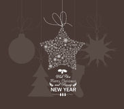 Christmas star snowflakes. Christmas Background and element for design Royalty Free Stock Photo