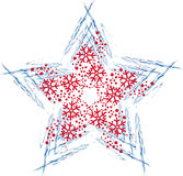 Christmas star with snowflakes Royalty Free Stock Images
