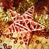 Christmas star and tinsel Royalty Free Stock Photography