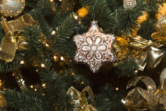 Christmas star, traditional decorations for xstmas Royalty Free Stock Photography